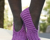 Hand Knitted wool slippers for women, girls