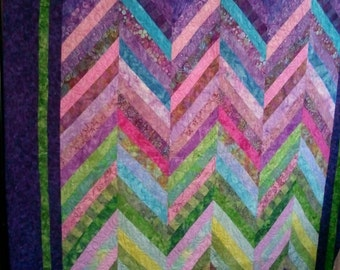 Joy Rising, chevron style, 56 X 75, throw or wall hanging