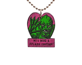 Creature from the Black Lagoon Valentine necklace