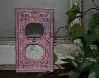 Outlet cover / outlet plates / receptacle covers / socket covers / outlet cover plates / electrical outlet covers  / pink