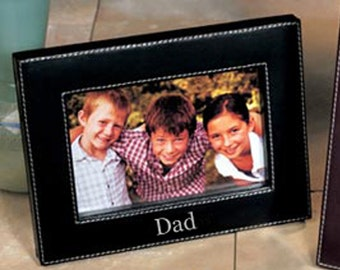 leather frame personalized leather frame makes a great fathers day gift husband gift