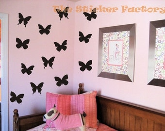 42 2 inch Butterfly Vinyl Decal Wall Art Decor Stickers