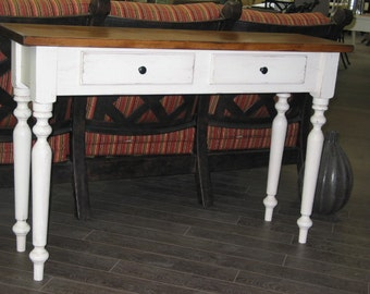 Side Table / Entry Table / Hallway Table / White Chic Desk