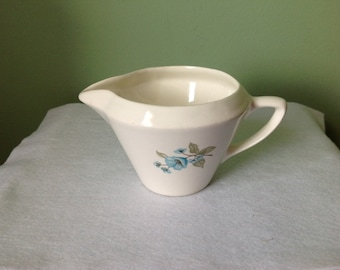 Vintage USA Creamer with Blue Flowers