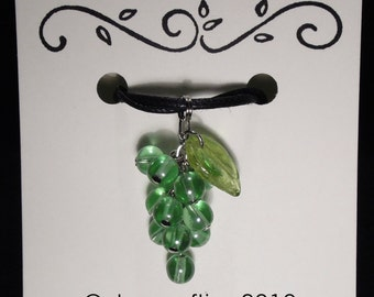 Grape Cluster Necklace - Green