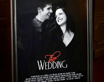 Guest Book Movie Style Poster, The Wedding