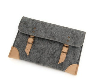 "Felt Case iPad Air Sleeve Bag for iPad, Nexus 10, Kindle Fire 8.9"" HD and Other 10"" Tablets with pocket"