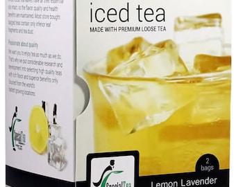 Organic Lemon Lavender Gourmet Iced Tea Premium Loose Leaf Black Tea