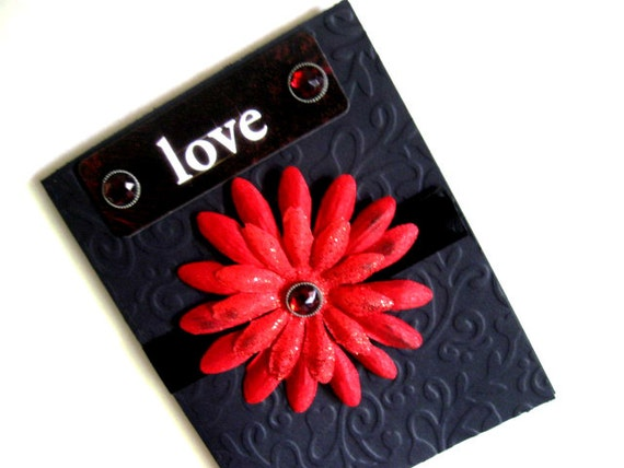 Love Vampire Card - Blank Goth Greeting Card