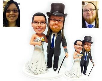 Personalised wedding cake topper - my gentlemen groom  (Free shipping)