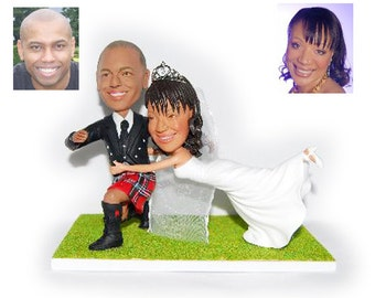 Personalised wedding cake topper - don't run from me wedding cake topper (Free shipping)