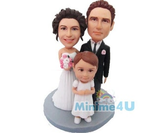 Family set figurine & wedding cake topper  (Free Shipping Worldwide)