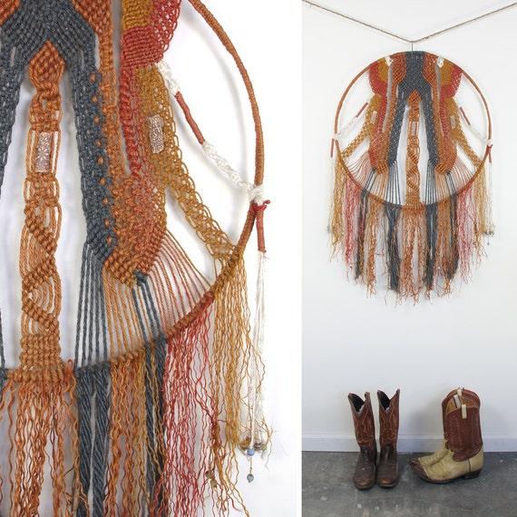 HUGE Macrame Dreamcatcher / Textile Wall Art
