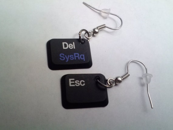 recycled keyboard earrings on etsy
