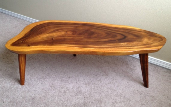 SALE Koa Wood Slab Coffee Table
