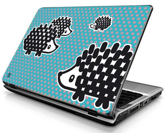 Hedgehog - blue - Laptop Decals - Laptop Skins - Laptop Stickers - Laptop Vinyl