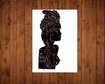 Limited Edition Print - 'Tribal Elegance lll'