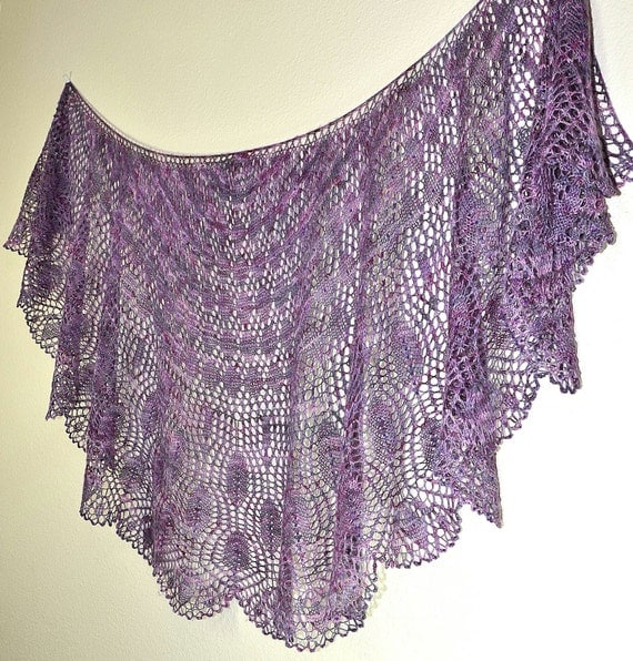Prayer Shawl Patterns Knitting : Knit Shawl Pattern ~ Wings of a Prayer from KristiHolaasDesigns on Etsy Studio