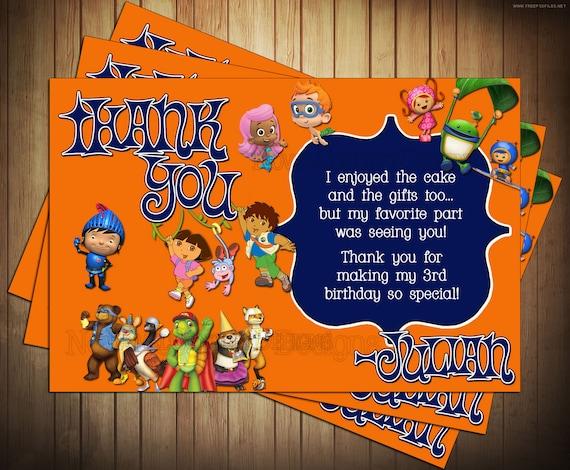 Sensational Novel Concept Designs Nick Jr Birthday Invitation And Thank You Card Funny Birthday Cards Online Alyptdamsfinfo