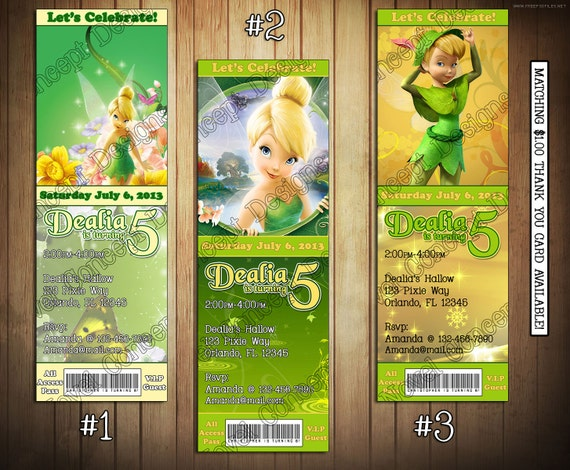 Novel concept designs tinkerbell birthday invitations and thank tinkerbell birthday invitations and thank you cards june 17 2013 bookmarktalkfo Choice Image