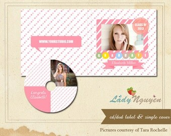 Instant download CD/DVD Label and cover templates - CD002