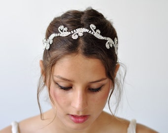 Bridal Head Piece,Bridal Hair Band ,Rhinestone Headband ,wedding headpieces,Bridal Headpiece,wedding head piece ,Bridal Fascinator Headband