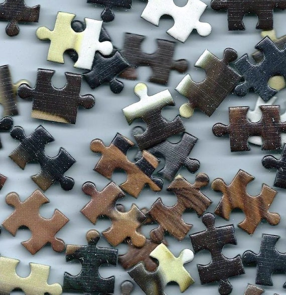 Puzzle pieces vintage ephemera pack for collage for Decoration or embellishment crossword