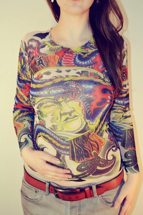 Yakuza Women Tattoos Tattoo T-shirt Japanese Yakuza