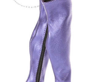 "Over Knee Thigh High-Heel Wide Boots Shoes Pearl Purple for 16"" Tonner Tyler/Gene dolls"