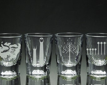 Lord of the Rings - Shot Glasses - Set of 4