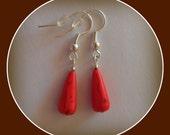 red gemstone earrings - Linskeslovelythings