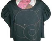 sweatshirt with bear embroidery