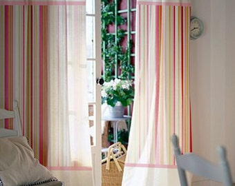 Baby Nursery Curtains / Pink Curtains / Kids Curtains / Pair Of 72L 46W  Inch Curtain