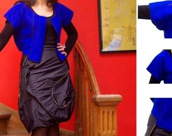 Bolero short sleeved women size M (38) 100% wool