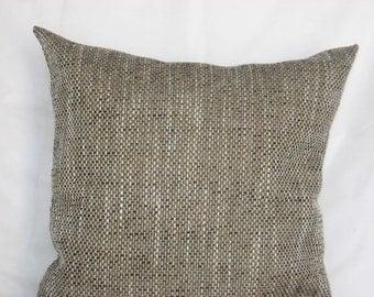 "Brown - beige - decorative - luxury - handmade - throw pillow - cushion - cover - 36 cm x 36 cm (14"" x 14"")"