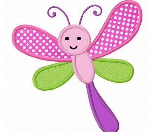 dragonfly Applique Machine Embroidery Design NO:0027