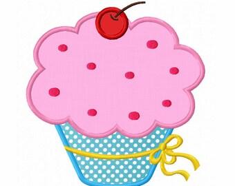 Cupcake Applique Machine Embroidery Design NO:0041