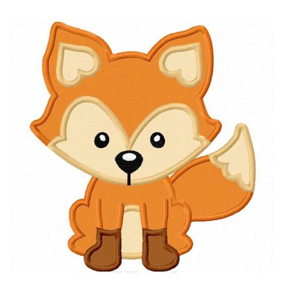 Fox Applique Machine Embroidery Design No 0042
