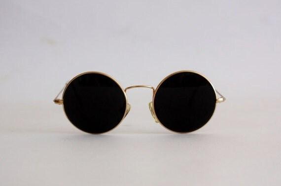 Vintage Sunglasses Planet mod. 21004 John Lennon Style Hippie Teashades. Made in Italy