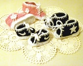 Treasury Item -RUNNING SHOES / Sturdy / Baby Boy and Girl Running Shoes / Crochet Boots