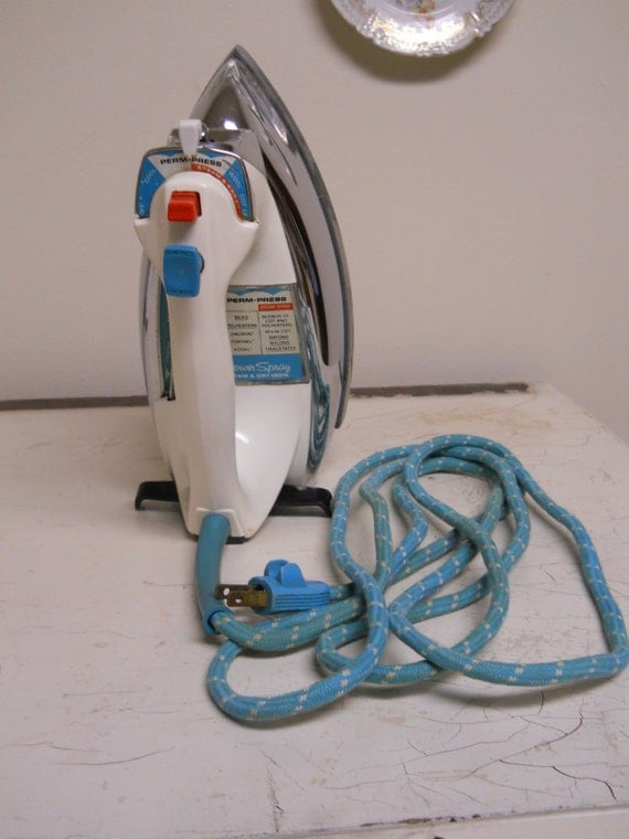 Electric Dry Iron ~ Items similar to vintage general electric power spray
