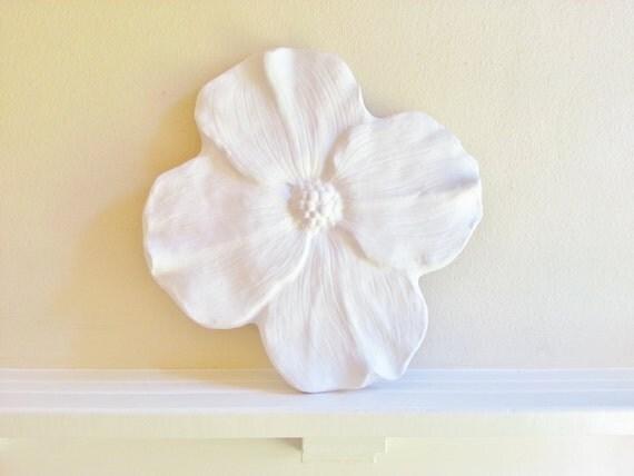 Large wall flower, Dogwood flower wall sculpture, modern floral art, wedding gift