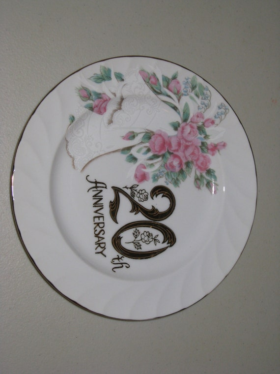 Vintage 20th Anniversary China Plate