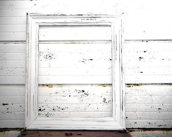 chunky 16x20 white frame thick large heavy wide white aqua mint gray grey black ivory