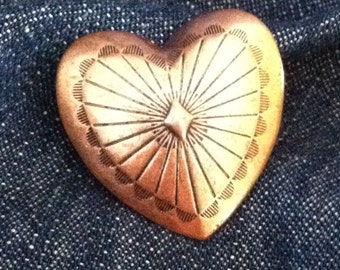 3 - Copper Heart Conchos