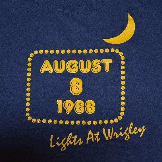 Vintage Stadium Lights: Vintage 80s Wrigley Field Lights Chicago Cubs T-Shirt L