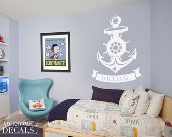 Nautical Name Wall Decal – Nursery Wall Decal - Custom Wall Art – Nursery Wall Art – Vinyl Decals - Awesome decals / 048