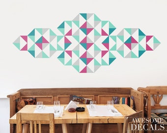 Geometric wall decal Etsy