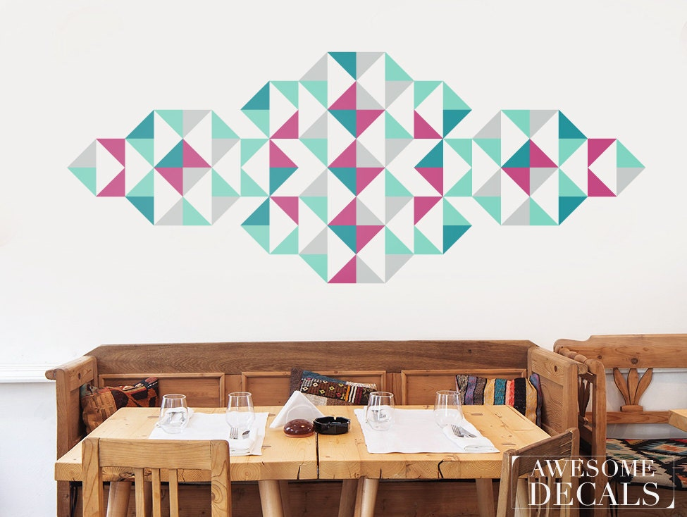 Nice Geometric Wall Decal Large Wall Decals Living Room Wall