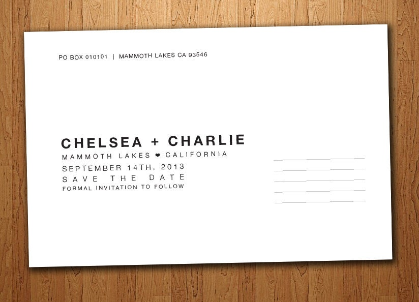 Back Of Postcard Layout And Template